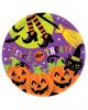 Halloween Pappteller mit Hexe 8 St.