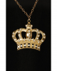 Hip Hop Goldkette mit Krone