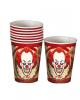 Horror Clown Party Becher 8 Stück