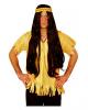 Indianer Perücke mit Haarband braun