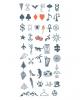 Glue Tattoo Set For The Fingers - Symbols