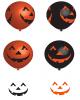 Lachende Kürbisse Latex Ballons 6 St.
