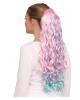 Lockiges Einhorn Haarteil Pastell