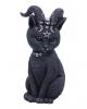 Okkulte Katzenfigur mit Ziegenhörner