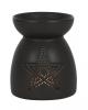 Black Pentagram Fragrance Oil Lamp