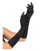 Satin Handschuhe schwarz