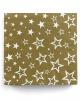 Napkins gold with stars 20 pcs.