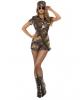 Sexy Armee Girl mit Shorts Kostüm