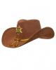 Brauner Sheriff Hut mit Stern & Goldquasten
