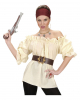 Steampunk Piraten Bluse Beige