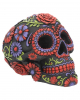 Sugar Skull With Flower Ornament