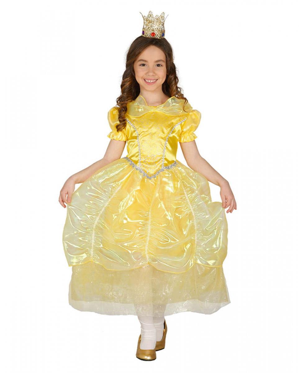 Gelbes Prinzessin Marchen Kinderkostum Kleid Fur Fasching Ebay