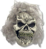 Skull mask with wig