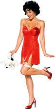 Betty Boop Mini Dress With Wig Size 36-38