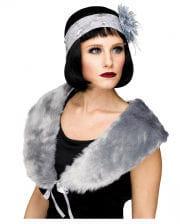 1920s Flapper Stole Gray