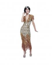 20er Jahre Gatsby Paillettenkleid Gold
