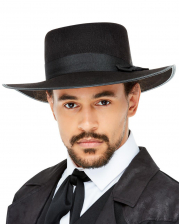 20s Felt Hat With Wide Brim Black