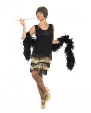 20s Flapper Damen Kostüm mit Fransen
