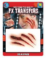 3D FX Transfer Tattoo wound scratches