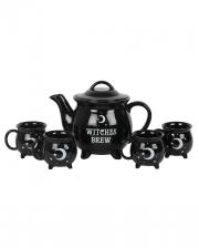 5-piece Witch's Cauldron Tea Set