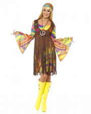 60er Jahre Hippie Kostüm mit Fransenkleid