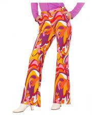 Groovy 70`s Ladies' Beat Pants Orchids