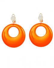 80s Neon Orange Earrings