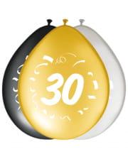 8er Pack Luftballons Zahl 30