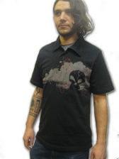 Dark Skull Polo Shirt Gr. S