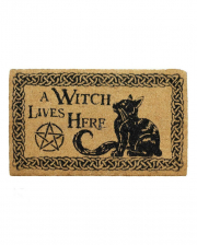 A Witch Lives Here Doormat