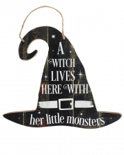 A Witch Lives Here Witch Hat Shield 35cm
