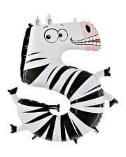 Animaloon Zahl 5 Zebra