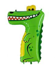 Animaloon Zahl 7 Krokodil