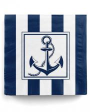 Napkins Anchor Blue-white 20 Pcs.