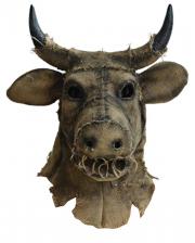 Antik Vogelscheuche Stier Maske