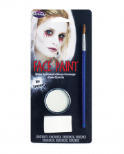 Aqua Color Make Up White With Brush And Sponge