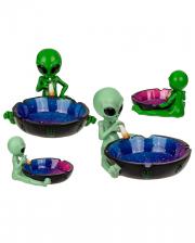 Aschenbecher Alien mit Joint, 1 Stück