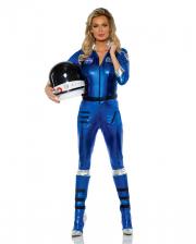 Astronauts Ladies Costume Blue