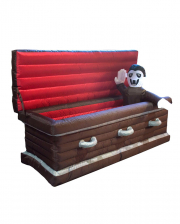 Inflatable Coffin With Sitting Vampire