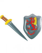 Schwert mit Schild aufblasbar