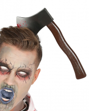 Axe In The Head As Costume Accessory