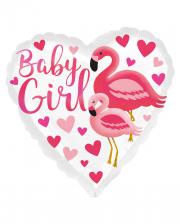 Baby Girl Flamingo Foil Balloon Pink
