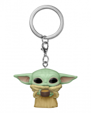 Baby Yoda the Child mit Tasse Schlüsselanhänger Funko Pocket POP!