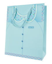 Baby boy gift bag blue