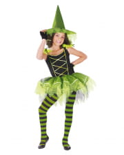 Ballerina Witch Child Costume Black-green