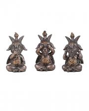 Baphomet Figures - See, Speak, Hear No Evil