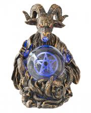 Baphomet mit Pentagramm LED Kugel 16cm