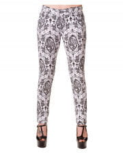 Gothic Jeans weiss