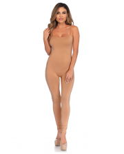 Basic Catsuit Nude With Thin Straps