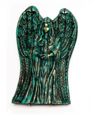 Winged Tombstone Angel 53 Cm